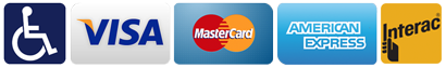 We accept Visa Mastercard American Express